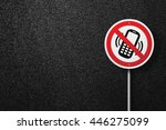 road sign of the circular shape ... | Shutterstock . vector #446275099