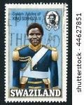 swaziland   circa 1971   king... | Shutterstock . vector #44627851