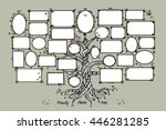 family tree template with... | Shutterstock .eps vector #446281285