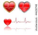 vector heart beats graph   Shutterstock .eps vector #44628748