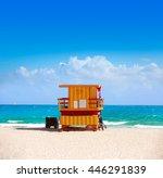 miami beach baywatch tower in...   Shutterstock . vector #446291839