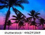 miami beach south beach sunset... | Shutterstock . vector #446291869