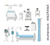 set with medical furniture and... | Shutterstock .eps vector #446293465