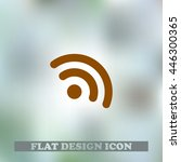 the icon of rss. flat design...