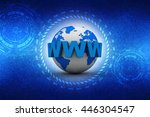 word www is wrapped in front of ... | Shutterstock . vector #446304547