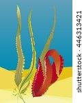 see weed in water | Shutterstock .eps vector #446313421