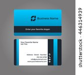 business card blue vector | Shutterstock .eps vector #446314939