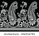 paisley indian motif | Shutterstock .eps vector #446316781