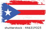 flag of puerto rico in the... | Shutterstock .eps vector #446319325