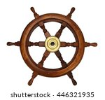 wooden wheel made of oak with...