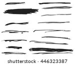 brush strokes on white... | Shutterstock .eps vector #446323387