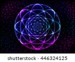 sacred geometry symbol. mandala ... | Shutterstock .eps vector #446324125