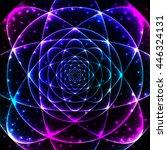 sacred spiritual geometry... | Shutterstock .eps vector #446324131