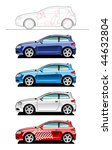 hatchback. part of my... | Shutterstock .eps vector #44632804