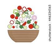 vector illustration set of... | Shutterstock .eps vector #446334565