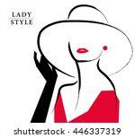 vector artistic hand drawn...   Shutterstock .eps vector #446337319