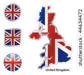 fully editable vector flag of... | Shutterstock .eps vector #44634472