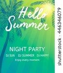 hello summer beach party. ... | Shutterstock .eps vector #446346079