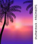 hello summer beach party. ... | Shutterstock .eps vector #446346091