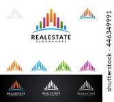 real estate vector logo design  ... | Shutterstock .eps vector #446349991