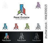 real estate vector logo design  ... | Shutterstock .eps vector #446350015