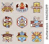 vape logotypes color set 2.... | Shutterstock .eps vector #446350399