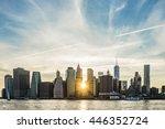 Sunburst Between Buildings Of...