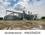 construction of elevator for... | Shutterstock . vector #446356024
