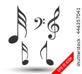 music notes icon. simple flat... | Shutterstock .eps vector #446357041