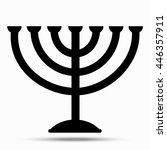 menorah symbol of judaism....   Shutterstock .eps vector #446357911