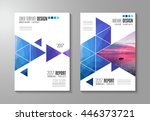 brochure template  flyer design ... | Shutterstock .eps vector #446373721
