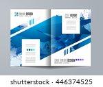 brochure template  flyer design ... | Shutterstock .eps vector #446374525