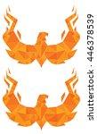 polygon art phoenix | Shutterstock .eps vector #446378539