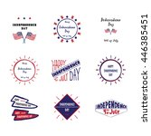 set of labels independence day... | Shutterstock . vector #446385451