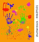 bright colorful fingerpainting... | Shutterstock . vector #44639101