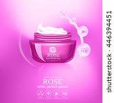 collagen and serum skin care... | Shutterstock .eps vector #446394451