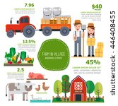 farm infographics element | Shutterstock .eps vector #446408455