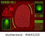 vector fingerprint. concept of...