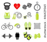 vector set of fitness items ...