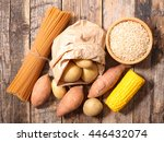 carbohydrate food background | Shutterstock . vector #446432074