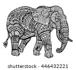Ethnic Animal Doodle Detail...