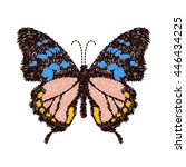embroidery butterfly design for ... | Shutterstock .eps vector #446434225