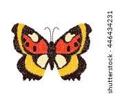 butterfly embroidery design for ... | Shutterstock .eps vector #446434231