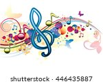 funky colorful musical design
