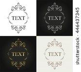card frames design set | Shutterstock .eps vector #446437345