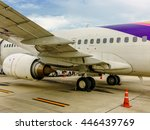 Small photo of Thai airway B737-400 parked at the parking bay in Samui airport, Thailand on July 26 2016