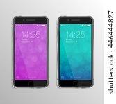 realistic smart phones mock up...   Shutterstock .eps vector #446444827