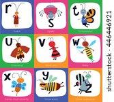 vector alphabet for children.... | Shutterstock .eps vector #446446921