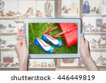 shop women's shoes online ... | Shutterstock . vector #446449819