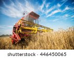 close up of a harvester... | Shutterstock . vector #446450065